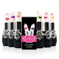 ingrosso flower jelly lipstick-6 Stili Fiore Crystal Gelatina Rossetto Magic Temperatura Cambia Colore Balsamo labbra Trucco Tazza antiaderente Rossetto a lunga durata 3001265