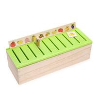 ingrosso domino giocattolo-Blocks Mattoni Kid Cognitive Puzzle Domino Toy Scatola di classificazione in legno Bambino Gioco genitori-figli Montessori Early Educational Toy Gift