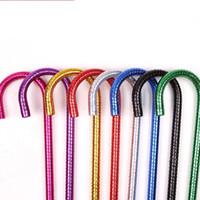 steckt bauchtanz großhandel-Solide Farben Jazz Walking Sticks Außenwicklung Glänzendes Band Bauchtanz Stöcke Kunststoff Anti Skid Crutch Mode 12xw T