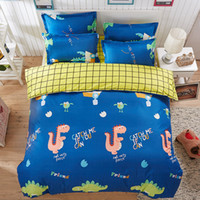 Wholesale green boys bedding for sale - Group buy Home Textiles Cartoon Style Bedding Sets Duvet Cover Bed Sheet Pillowcase Bed Linen Boy Girl Child Bedclothes