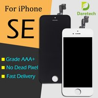 pantalla de apple 5s al por mayor-Pantalla LCD de Pantalla Táctil Digitalizador Asamblea Completa para iPhone 5 SE blanco Piezas de Reparación de reemplazo envío gratis
