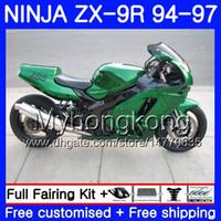 95 zx 9r verkleidungen großhandel-Glänzend grüner heißer Körper für KAWASAKI NINJA ZX900 ZX9R 94 95 96 97 221HM.11 ZX 9R 94 97 ZX 9 R 900 900CC ZX-9R 1994 1995 1997 Verkleidungskit