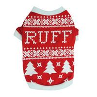 strickmuster hunde großhandel-8Pcs / lot Pet Dogs Pullover Katze Winter Warme Strickjacke Weihnachten Strickmäntel Outwear Kleid 2 Muster Hund Kleidung für Hunde