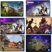 Wholesale print painting pictures - 13 colors Fortnite poster Fortnite Battle Royale Game silk Poster Wall Painting Posters Prints on silk Art Wall Pictures 120PCS MMA255