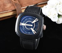 Wholesale Square Watch Date Leather Mens - Automatic Movement Bracelet Top luxury brand Men's Mechanical Leather Steel Watch mens Self-wind Watcecision male wristwatch