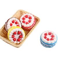 kırmızı kekler toptan satış-Squishy Kek Çilek Parfüm Krem Pembe Sarı Kırmızı Kahve Mavi Fidget Oyuncak Jumbo Dekor Yavaş Yükselen Squishies Ücretsiz Kargo