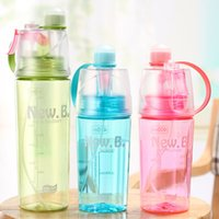 Wholesale cool water cooled pcs for sale - Novelty Flat Bottom Cup Creative Sports Plastic Spray Water Bottle High Quality Outdoor Camping Cooling Drinking Water xt2 Y