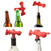 Wholesale man gadgets - 7.5*8cm Happy Red Man Corkscrews Beer Openers Plugs Bar Tool Gadgets Home Decor Kitchen Accessories Party Supplies Wedding Decorations