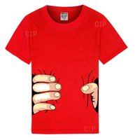 kadın yarı gömlekler toptan satış-2018 mens womens casual giyim kısa kollu Tişört komik 3D büyük el tam pamuk yaz yarım kollu gömlek