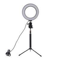ingrosso bastone di foto-Lightdow dimmerabile LED Studio Camera Ring Light Photo Phone Videocamera Lampada con treppiedi Selfie Stick Ring Fill Light per Canon Nikon Camera