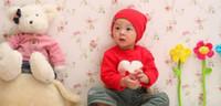 chapéu coreano popular venda por atacado-Versão coreana do bebê infantil chapéu de cabeça do bebê popular primavera e outono modelos de inverno dupla maré chapéu