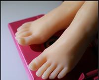 chica de sexo realista de silicona al por mayor-2019 nueva calidad superior muñeca del sexo Silicon Fetiche del pie de las mujeres, realista maniquíes pies de silicona modelo, muchacha joven pies falsos