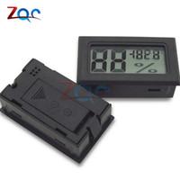 indicador de temperatura interior al por mayor-Negro Mini LCD Digital Termómetro Higrómetro Temperatura Interior Conveniente Sensor de temperatura Humedad Medidor Instrumentos