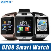 Wholesale sim cards for watch phones online - ZZYD DZ09 Bluetooth Smart Watch Wirstband Android Intelligent Watch SIM card for Iphone Samsung S8 Note Mobile Phone with retail package