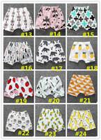 Wholesale panda clothes summer for sale - 30 styles INS Toddler Short Pants New Baby Boy Girl Shorts Elastic Waist Leggings Bee Panda Animal Fruits Fox PP Pants newborn clothes