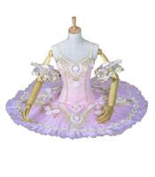 Wholesale spandex fairy costume online - Pink Sleeping Beauty Stage Ballet Costumes Tutus Women Pink Fairy Swan Lake Performance Ballet Tutu BT8955
