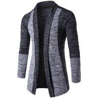 Wholesale british knitting wool online - 2018 New Men s Long sleeved Sweaters British Retro Stitching Cardigan Male Sweater Coats Slim Fashion Casual Men Sweater High Quality