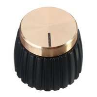 Wholesale marshall amps for sale - Group buy AMP Amplifier Knobs Push on Black Gold Cap for Marshall Amplifier