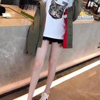 Wholesale Long Sleeve Cat Blouses - In the new version new early spring cat, the long short sleeves of the short - sleeved women's European station overize blouse.