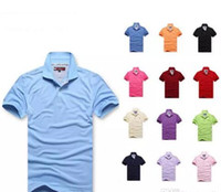 Wholesale tommy fashion - 2018 arrival summer Polo Shirt Men Big small Horse crocodile tommy Camisa Solid Short Sleeve Summer Casual Camisas Polo Mens good quality