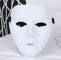tam maskeli maskeler erkek toptan satış-JabbaWockeeZ Erkekler Kadınlar Cadılar Bayramı PVC Malzeme Tam Maske Cosplay Kostüm Aksesuarları Gizemli Maske Masquerade Parti Maskesi