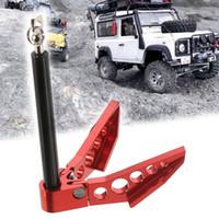 ingrosso automobili tamiya rc-Ancoraggio per argano pieghevole in metallo in scala 1:10 per accessori auto RC Crawler rosso per assiale SCX10 TAMIYA CC01 RC4WD D90 D110 TF2