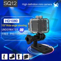 câmera de esporte infravermelho venda por atacado-MINI DV DVR SQ12 À Prova D 'Água mini câmera Full HD 1080 P 720 P motion detection Mini Esporte Câmera de Vídeo com visão noturna infravermelha