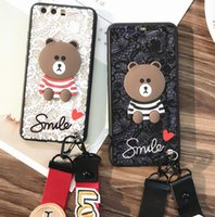 Wholesale Lanyard Lace - Lace veil bear mobile phone lanyard phone case phone protection cover for iPhone