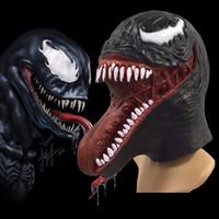 Wholesale men for superhero cosplay for sale - The Venom Spiderman Mask Cosplay props Halloween Edward Brock Dark Superhero Venom Latex Masks Helmet Halloween Party Props FFA981