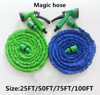 Wholesale expandable garden hose 75ft resale online - Hot sale Expandable Flexible Water Garden Hose hose flexible FT FT FT FT free DHL