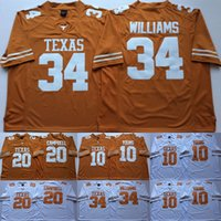 texas longhorns jerseys al por mayor-10 Vince Young Texas Longhorns College Camisetas de fútbol 20 Earl Campbell 34 Connor Williams Men Jersey