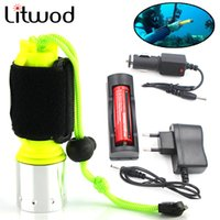 Wholesale cree scuba diving - Z20 New LED flashlight 2000LM CREE T6 LED Waterproof underwater scuba Dive Diving Flashlight Torch light lamp for diving light