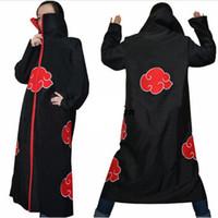 ingrosso costumi naruto uchiha-Costume cosplay Naruto Akatsuki Mantello con cappuccio Naruto Uchiha Itachi Costume cosplay anime