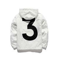 chaqueta de skate xl al por mayor-Hombres Mujeres Moda Chaquetas de skate Chaqueta con capucha Cazadora Streetwear Chaquetas blancas negras Mezcla de algodón de manga larga