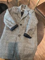 ingrosso ragazzi coreani di giacche di moda-Ragazzi bambini soprabito Inverno coreano moda Cappotto lungo cappotto di lana per ragazzi Teens autunno giacca calda tuta sportiva lunga bambini antivento