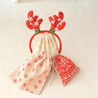 Wholesale cotton wrapping paper for sale - Group buy Merry Christmas Decoration Storage Cloth Bag Cotton Pleasantly Surprised Gift Package Coin Key Pouch Candy Bags Party Supplies ym3 ff