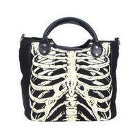 Wholesale handbag gothic resale online - Women Skeleton Bones Luminous Handbag Bats Skulls Eyeballs Gothic Shoulder Bag Horror halloween Printing Noctilucence Handbag FFA941