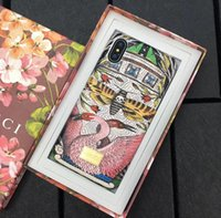 Wholesale Cute Animal Iphone Covers - With Box Fashion Cute cartoon animal phone case for iPhone X 8 7 7plus bags hard phone cover for iPhone 8 plus
