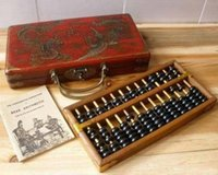 Wholesale new hand pole resale online - Chinese HAND dragon phoenix leather wood box with a abacus inside