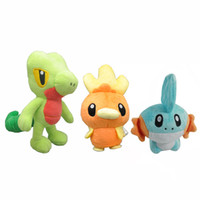 Wholesale mudkip plush doll resale online - Hot New quot quot CM CM Mudkip Torchic Treecko Plush Doll Anime Collectible Dolls Stuffed Party Gifts Soft Toys