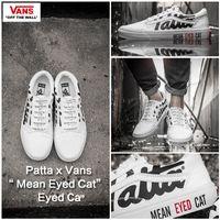 Wholesale Table Cat Box - Patta x Vans Mean Eyed Cat MEN'S WOWEN'S Skateboarding Shoes Unisex White Sports canvas Shoes Sneakers 35-44