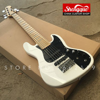 Wholesale custom shop maple fingerboard online - factory custom jazz bass strings electric bass guitar with maple fingerboard all color available musical instrument Shop