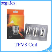 Wholesale eletronic cigarettes - TFV8 Coil Head X4 Q4 T6 T8 T10 RBA Eletronic Cigarette Cloud Replacement Coils For TFV8 Cloud Beast Tank Atomizer 0266101-1