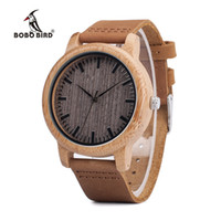 Wholesale casual pin up for sale - Group buy BOBO BIRD V A18 Top Brand Wood Watches Men Casual Bamboo Quartz Wristwatch Leather Strap Relogio Masculino Hombre Y1892107