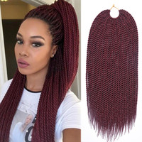 Wholesale senegalese braids online - TOMO Hair quot quot quot quot quot Strands Pack Senegalese Twist Crochet Braids Kanekalon Synthetic Small Crochet Braids Braiding Hair Extensions