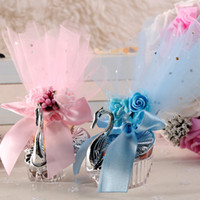 Wholesale silver swan favors for sale - Group buy New wedding favors Acrylic Silver Swan Sweet Wedding Gift Jewely Candy box Candy gift box Wedding Favors holders lin3747