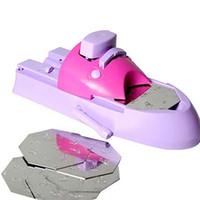 stempelmaschine großhandel-DIY Muster Druck Nail Art Stamper Kit für Mädchen Stanzen Druckmaschine Nail Printer Tools Free DHL