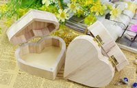 Wholesale jewelry box up - New Storage Box Heart Shape Wood Jewelry Box Wedding Gift Makeup Cosmetic Earrings Ring Desk Rangement Make Up Wooden Organizer