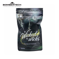 Wholesale organic electronics resale online - Original BomberTech Wicked Wicks Premium Cotton Wicks Organic Cotton Electronic Cigarette Accessories