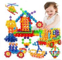 blöcke plastik pädagogisches spielzeug großhandel-3D Puzzle Kunststoff Schneeflocke Bausteine Modell Puzzle Lernspielzeug Für Kinder c009
